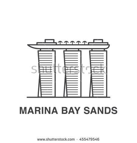 Marina bay sands clipart.