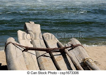 Stock Image of Wooden Boat.