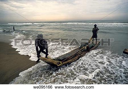 Stock Images of Fishermen at work.