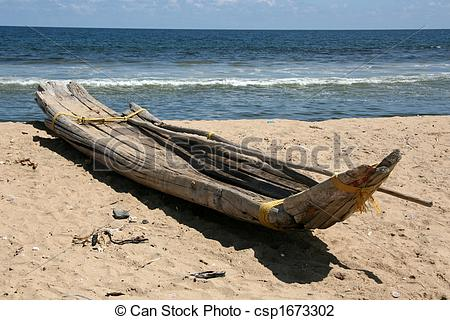 Stock Photo of Wooden Boat.