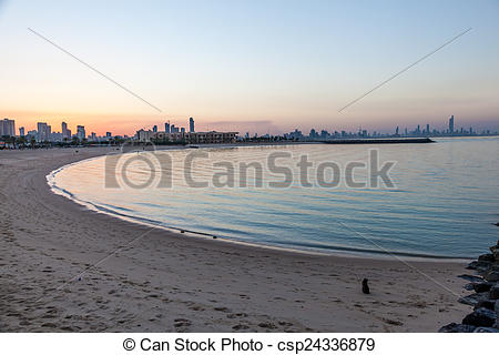 Picture of Marina Beach in Kuwait City, Middle East csp24336879.