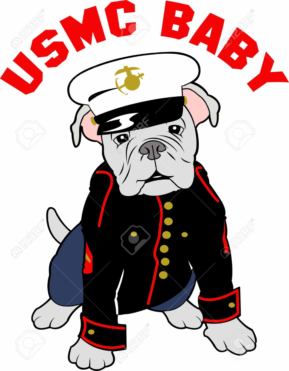 Showing post & media for Marine corps mascot cartoon.