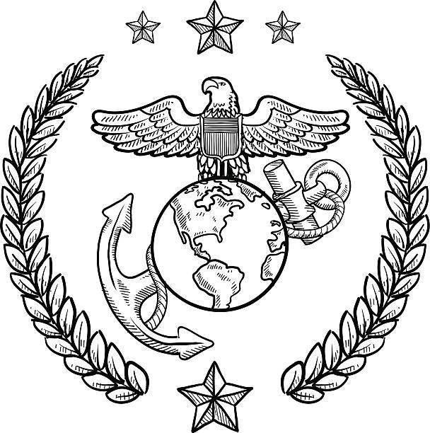 Best Us Marine Corps Illustrations, Royalty.