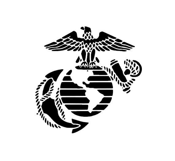 USMC Eagle Globe and Anchor Sticker Car Decal.