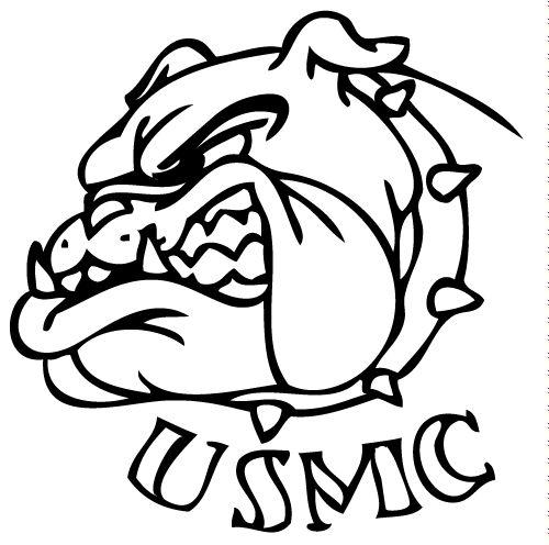 Marine Bulldog Drawings Tattoos.