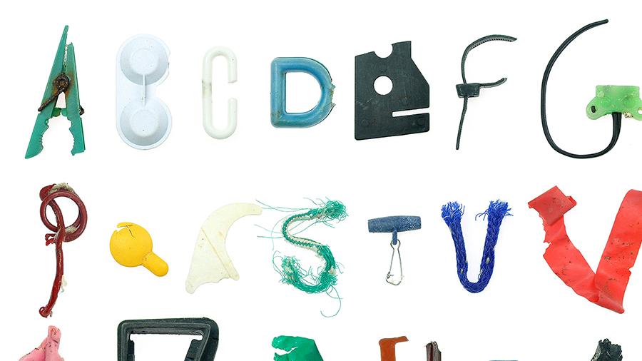 Marine Debris Typeface.