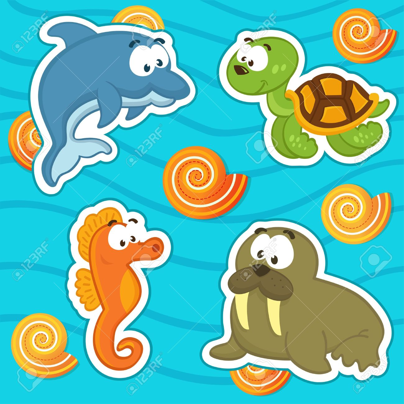 13,046 Marine Fauna Stock Vector Illustration And Royalty Free.
