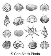 Marine gastropod molluscs Vector Clipart EPS Images. 10 Marine.