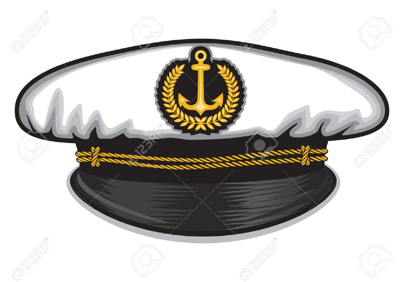 Ship Captain Hat Clipart.