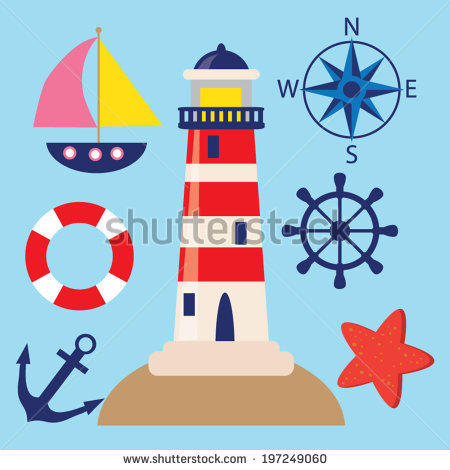 Nautical Vector Images Stock Vector 115243378.