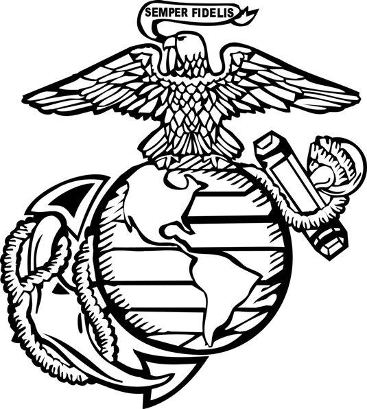 United States Marine Corps Symbols Clip Art.