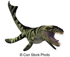 Clipart of Dakosaurus Marine Reptile.