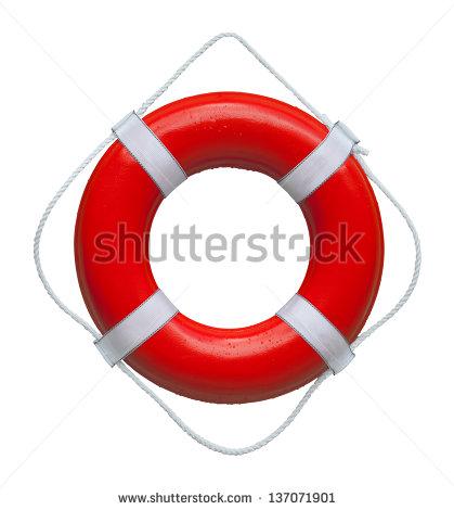 Red Marine Safety Buoy Ring Isolated On White Background Stock.