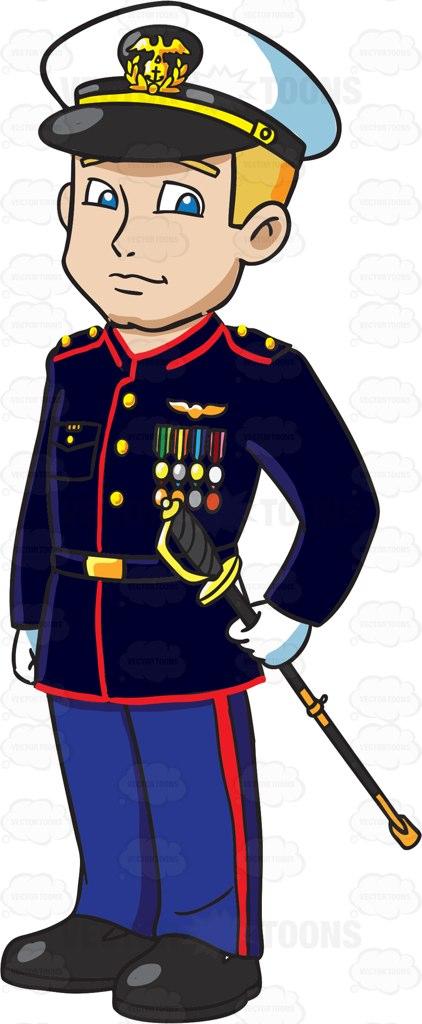 Marine soldier clipart.