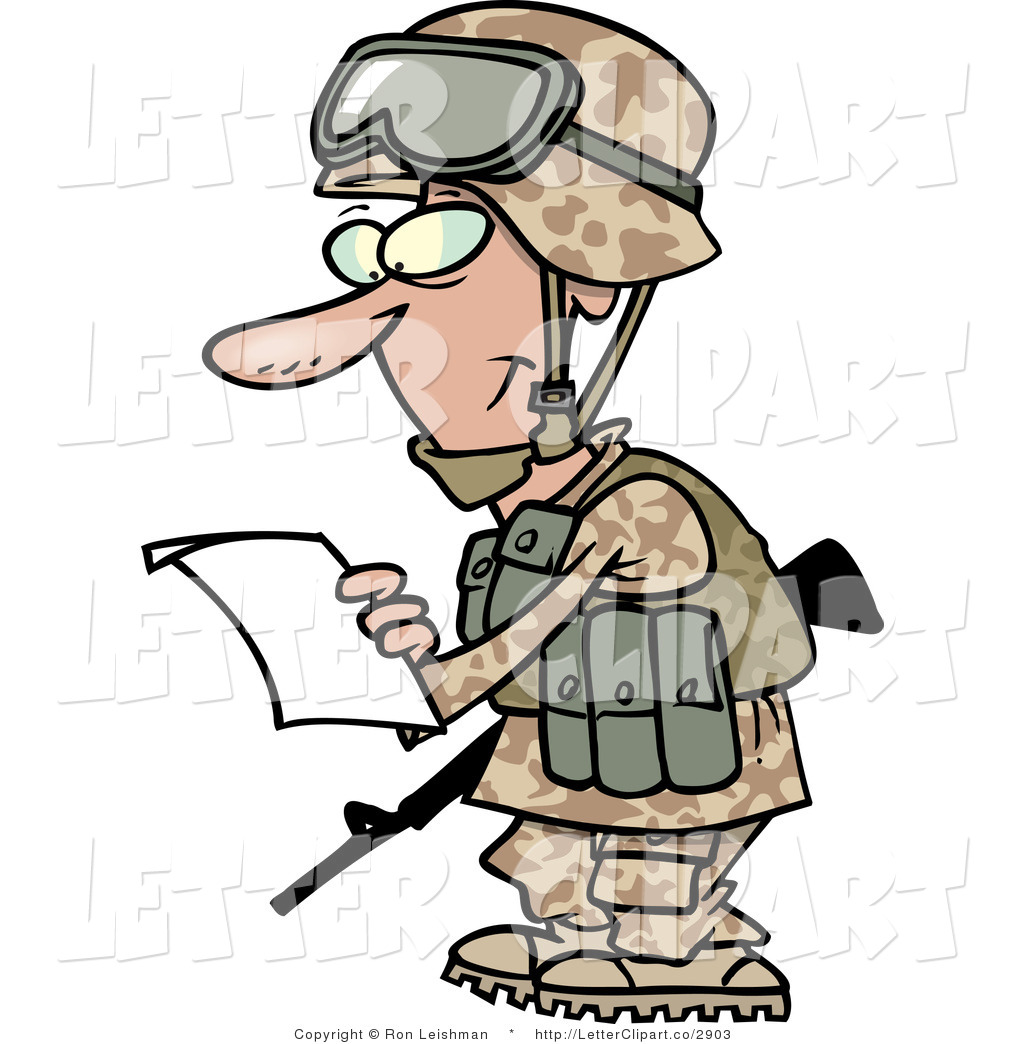 Marine Soldier Black And White Clipart.