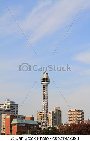 Stock Photographs of Yokohama marine tower csp21972393.
