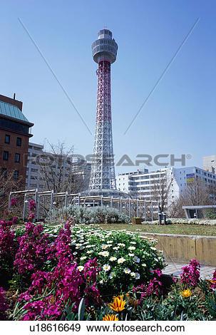 Stock Photograph of Yokohama Marine Tower, Japan u18616649.