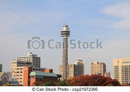 Stock Photographs of Yokohama marine tower csp21972395.