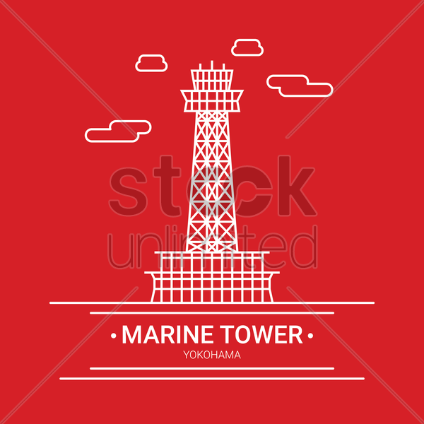 Marine tower Vector Image.