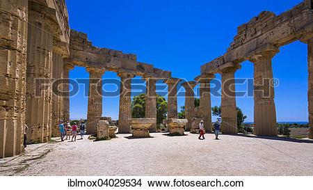"""Stock Photo of """"Temple of Hera, Temple E, Juno, Selinunte."""