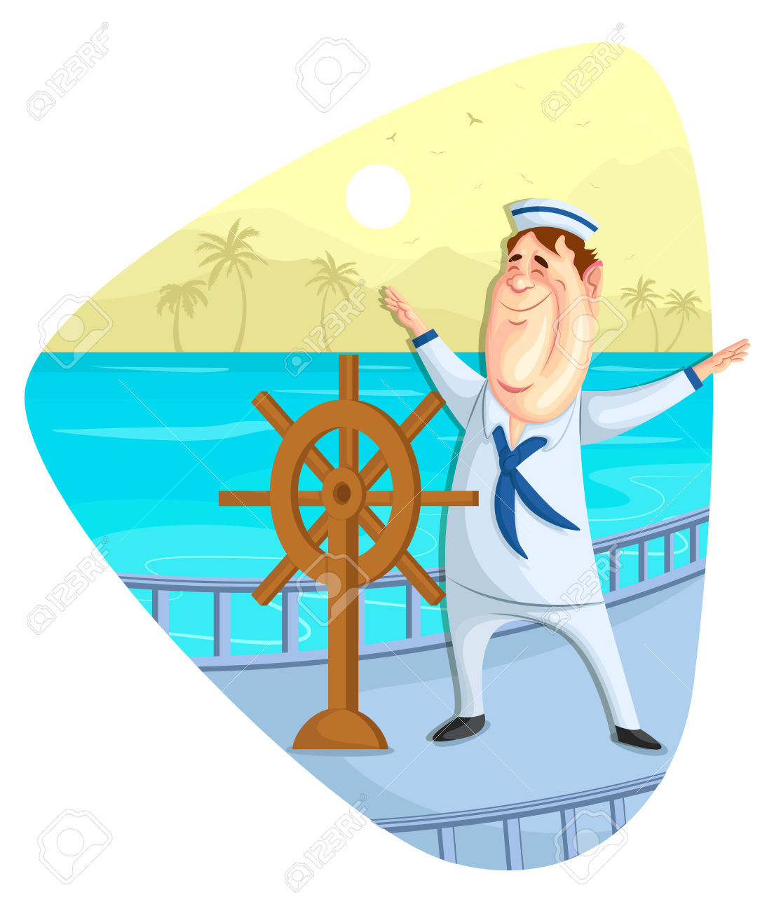 Illustration Of Sailor On Ship Royalty Free Cliparts, Vectors, And.
