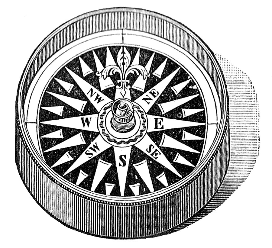 Mariners compass clipart.