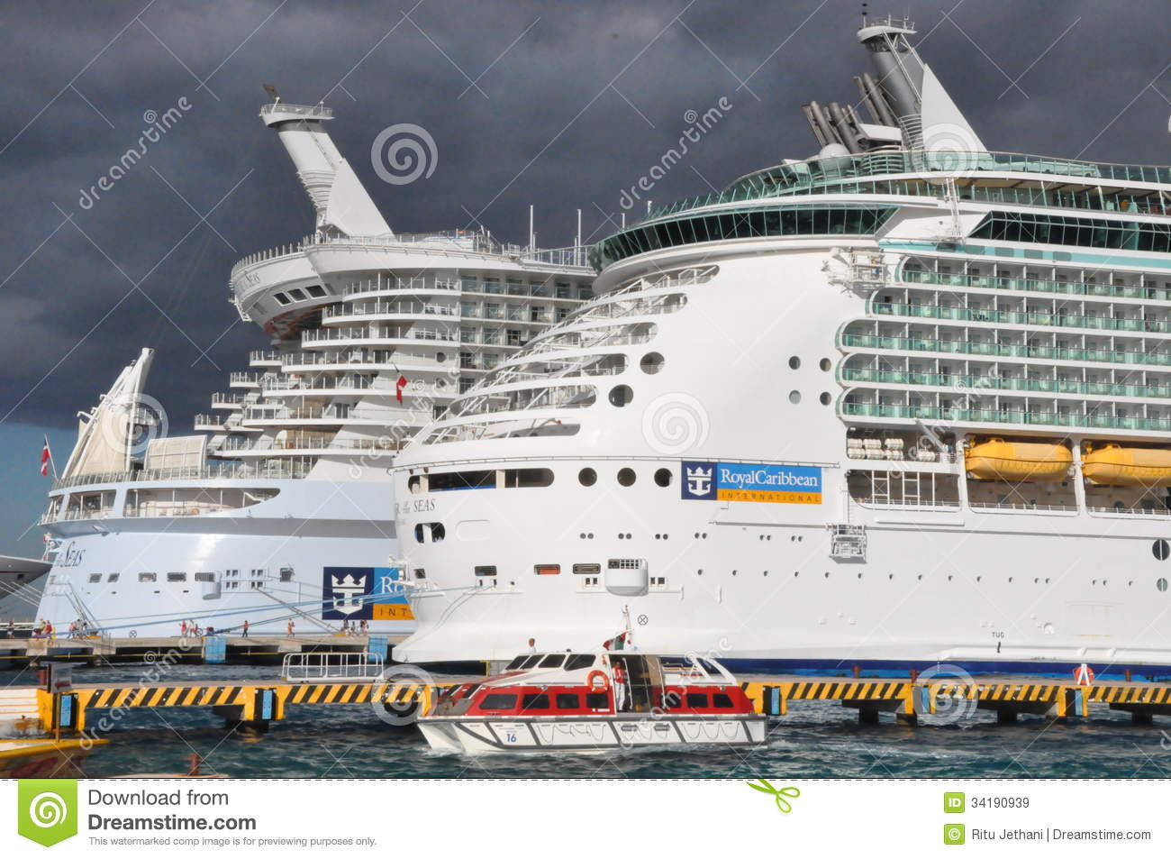 Royal Caribbean's Allure Of The Seas & Mariner Of The Seas.
