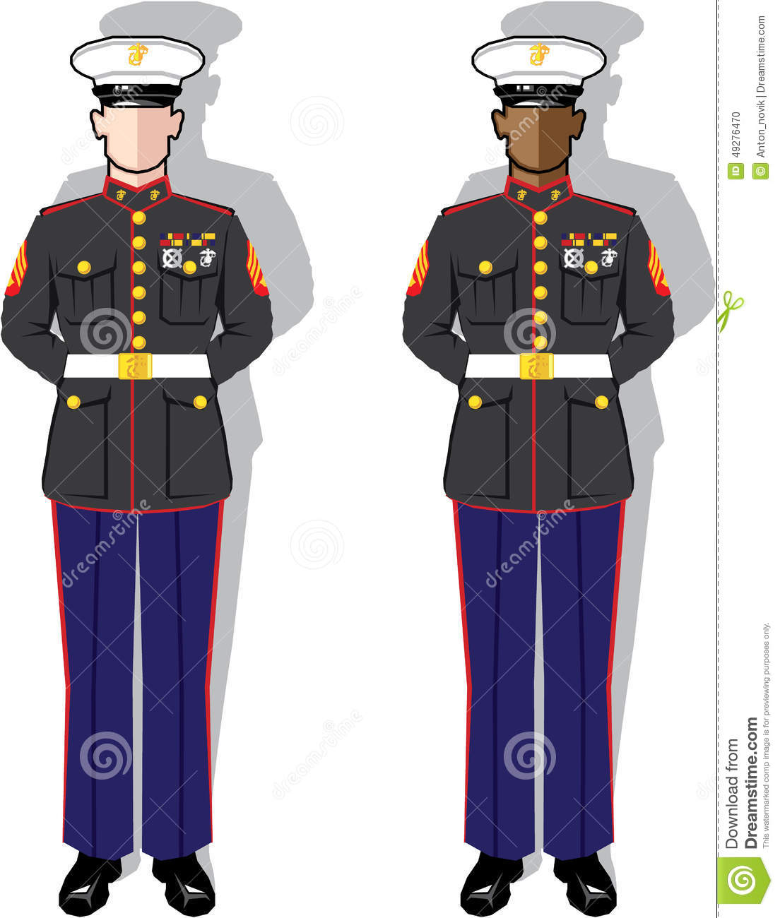 Marines Uniform Clipart.