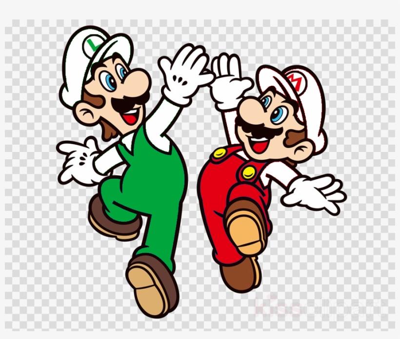 Mario Luigi High Five Clipart Mario Bros.