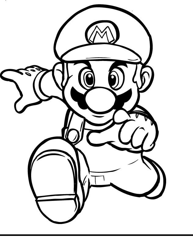 Free Mario Clip Art Black And White, Download Free Clip Art.