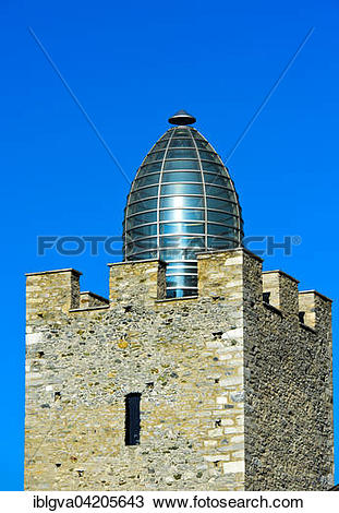 Stock Photo of Tower with glass dome designed by Mario Botta.