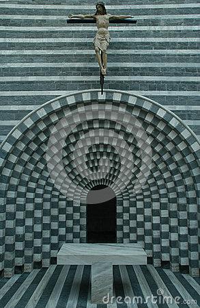 The Church Of Architect Mario Botta At Mogno Royalty Free Stock.