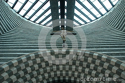 Mario Botta, Church Altar Royalty Free Stock Image.