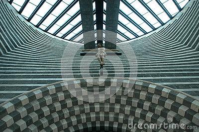 Mario Botta, Church Altar Royalty Free Stock Image.