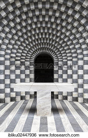 "Stock Images of ""Interior of the church of Mogno, designed by."