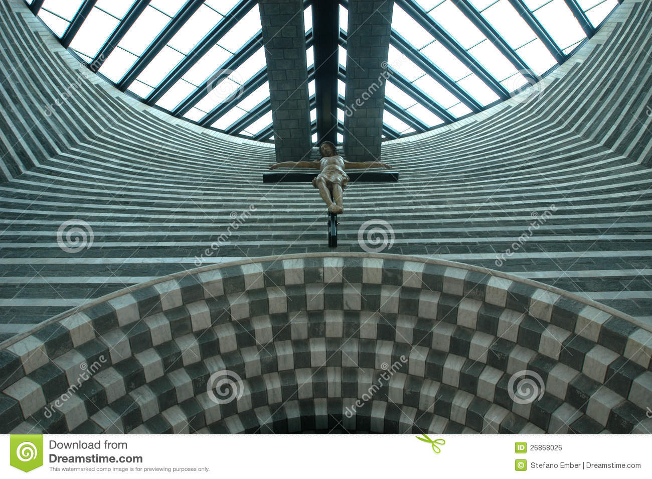 The Church Of Architect Mario Botta At Mogno Royalty Free Stock.