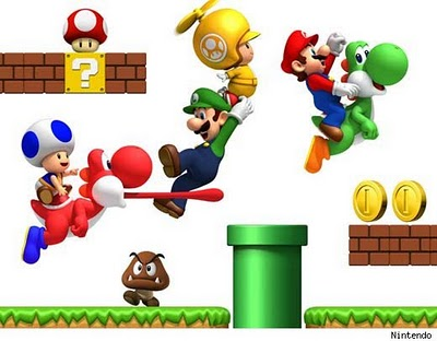 Mario brothers clip art.