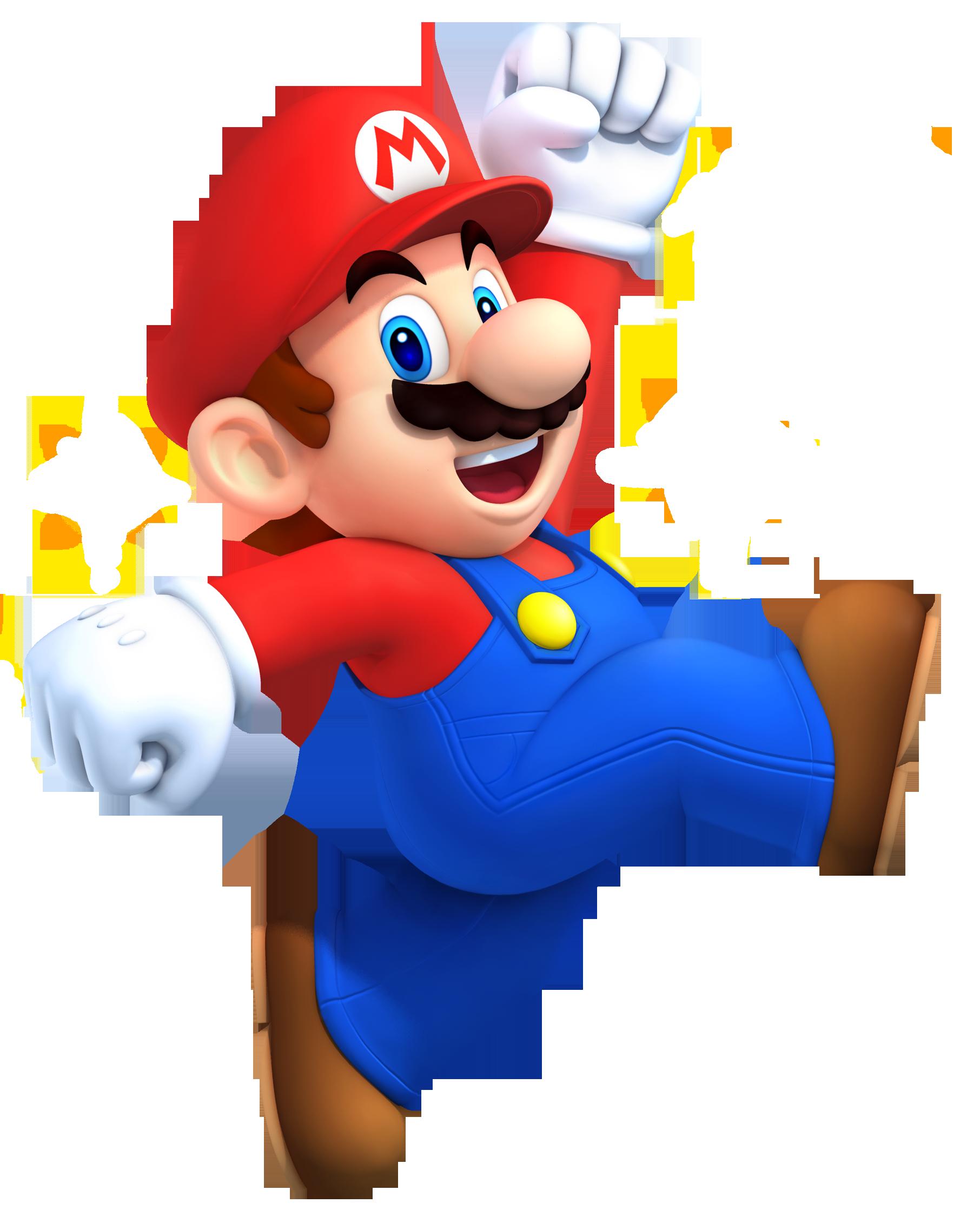 Super Mario Jumping PNG Image.