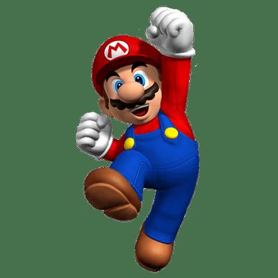 Mario Jumping transparent PNG.