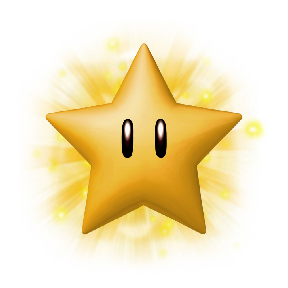 Mario Star PNG Download Image.