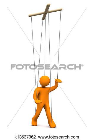 Clip Art of Marionette k13537962.