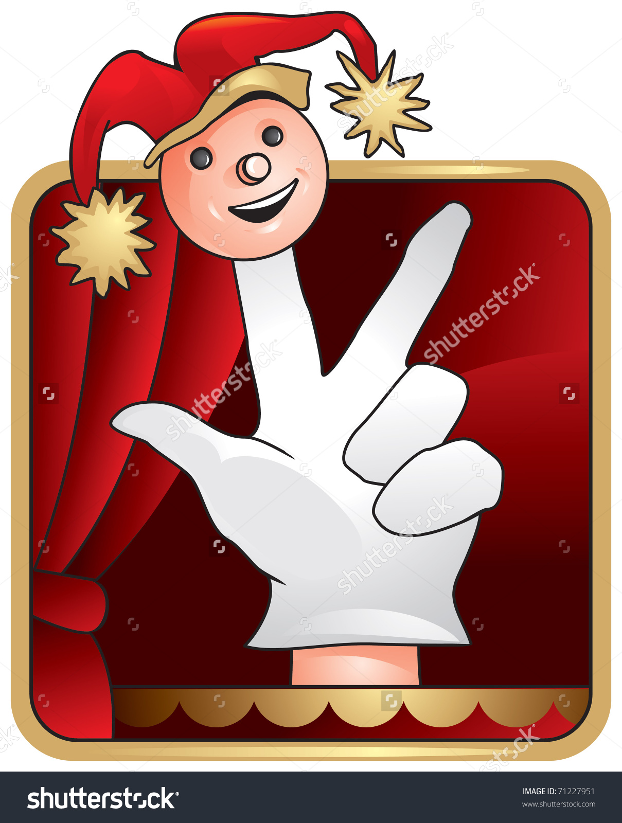 Puppet Theatre Vector Icon Puppetry Puppet Stock Vector 71227951.
