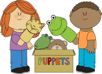 Puppet theatre clipart.
