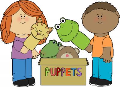 Puppet theatre clipart.