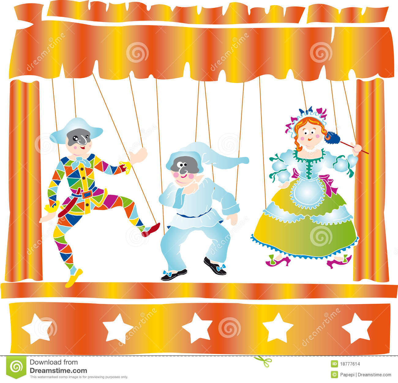 Puppet Theater Stock Images.