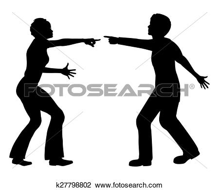 Clip Art of Marital Quarrel k27798802.