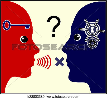 Stock Illustration of Marital Communication Problem k28803389.