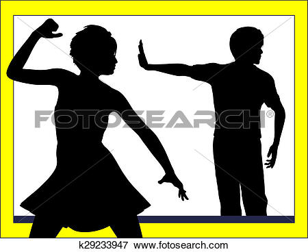 Stock Illustration of Ignoring Marital Problems k29233947.