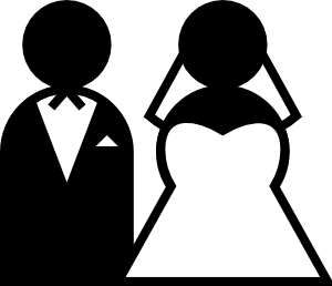 Marriage clip art.