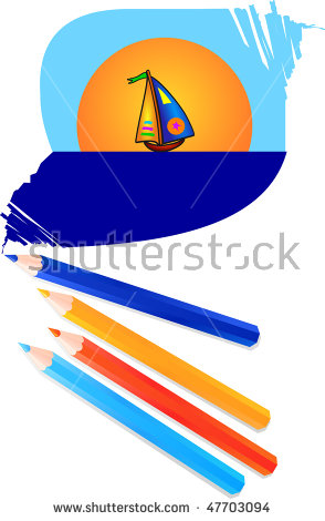Pencil Landscape Stock Photos, Royalty.